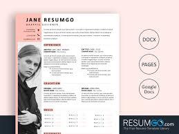 Modern Looking Resume Template Zosime Feminine Modern Resume Template Resumgo Com