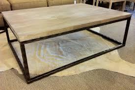 Steel Coffee Table Frame Bruckner Metal Top Coffee Table Is Also A Kind Of Wood Base