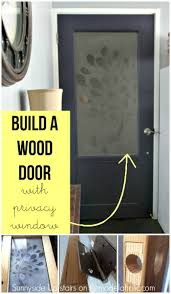 how to build a wood door from scratch with a frosted plexiglass window including