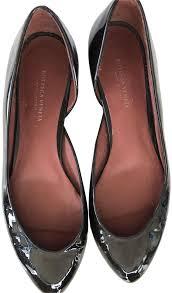 bottega veneta women patent leather pointed toe espresso dark brown flats image 0