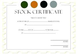 Corporate Stock Certificate Template Word Share Company