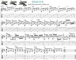 Free sheet music easy piano canon in d pachelbel created date: Canon In D Easy Guitar Tab