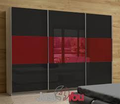 Bedroom Furniture Riwiera With Fronts In High Gloss Furniture - Red gloss bedroom furniture