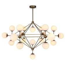 globe lighting chandelier. Modernist 21-Globe Lamp, Burnished Brass Or Black Globe Lighting Chandelier T