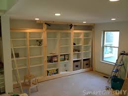 built in bookcase and why it s not finished family room 7