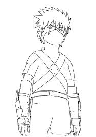 Naruto Coloring Pages Kakashi Kids Coloringstar Home Furniture