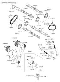24312 39800 genuine hyundai belt valve timing 2000 hyundai santa fe camshaft valve diagram 2024011
