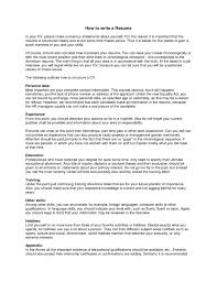 How Write A Resume Templates To Good Things About Yourself On Cv