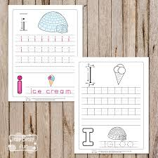 Letter I Tracing Worksheets - Itsy Bitsy Fun