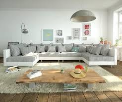 Couch Clovis Xl Weiss Hellgrau Wohnlandschaft Modulsofa