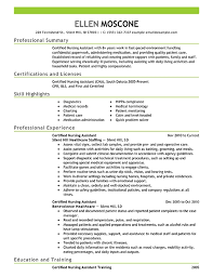 Nurse Assistant Resume Unique Samples Of Cna Resumes Radiovkmtk