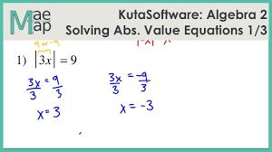kuta algebra 2 solving absolute value equations part 1