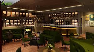 Bar Restaurant Interior Design By Yantram 3d Interior