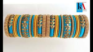 Bridal Bangle Set Designs How To Make Antique Designer Silk Thread Bridal Bangles Set
