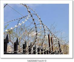 barbed wire fence prison. Interesting Prison Free Art Print Of Barbed Wire Fence At The Prison In Wire Fence Prison N