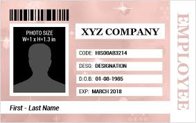 Identification Card Samples Employee Identification Card Templates Ms Word Word