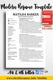 Resume Template Matilda Barker Small Business Products We Love