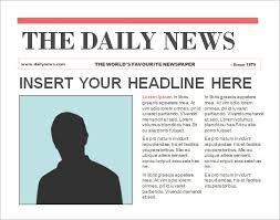 Spoof Newspaper Template Free Newspaper Template Powerpoint Templatefree Ml