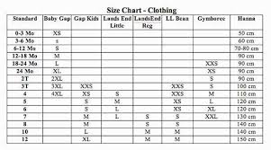 Carters Sizing Charts Carters Clothing Size Chart Baby Clothes Size Charts Nice