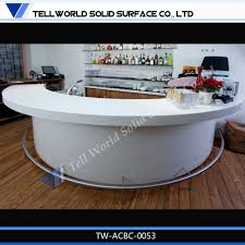 white acrylic bar counter table half round mini bar counter  buy