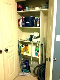 broom cabinet corner closet five great ideas for a revamped shallow shallow broom closet