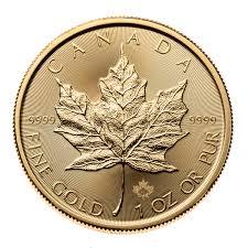 2019 Canadian Gold Maple Leaf 1 Oz 9999