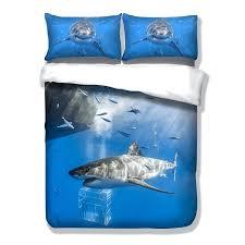 shark bedding twin shark duvet cover pillow cases twin full queen king bedding set sea animal