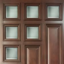 clear glass geometric square design