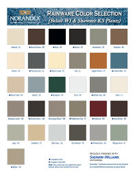 Acm Color Chart The Gutter Company