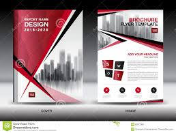 Red Design Company Business Brochure Flyer Template Red Cover Design Company