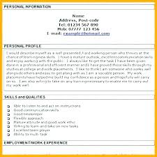 Profile In A Resume Resume Personal Profile Examples Personal