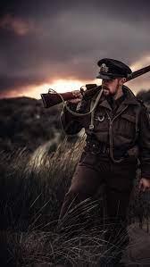 Soldier Attitude, rifle, HD mobile ...