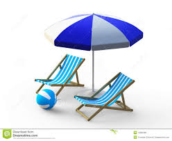 Beach umbrella and chair Low Beach Chair And Umbrella Dreamstimecom Beach Chair And Umbrella Stock Illustration Illustration Of Ball
