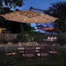 10 patio hanging solar led umbrella