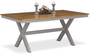 Furniture Click To Change Image Painted Pony Party Nantucket Trestle Table Oak And Gray American Signature Furniture