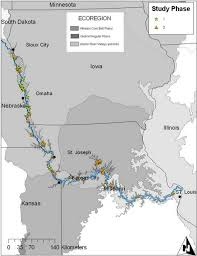 Map Of The Lower Missouri River Floodplain Wetlands Studied