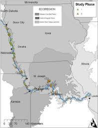 Missouri River Depth Chart Map Of The Lower Missouri River Floodplain Wetlands Studied