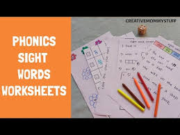 Sight word activities | how to teach sight words at home for kindergarten, first and second grade. Phonics Sight Words Practice Worksheets Diy Phonics Worksheets Literacy Worksheets For Preschool Youtube