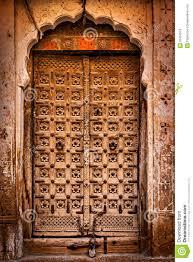 wooden old door vine background