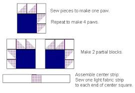 Bear Paw Free Quilt Pattern & Bear Claw Pieces Assembly Adamdwight.com