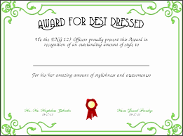 Sample Awards Certificate 30 Best Dressed Award Certificate Pryncepality