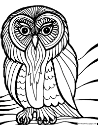Free Printable Halloween Owl Coloring Pages 1451877054scary