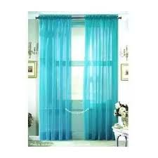 LuxuryDiscounts 2 Piece Solid Elegant Sheer Curtains Fully Stitched Panels  Window Treatment Drape (54