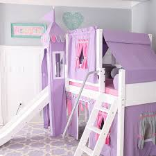 bunk bed with slide and tent. Wow Loft Bed With Slide Tent And Curtains Bunk