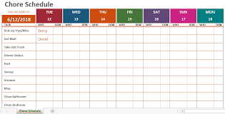 Weekly To Do Calendar Template Weekly Chore Calendar Template Exceltemplate