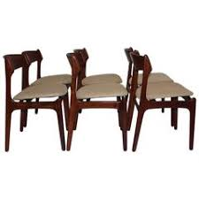 dining room chairs by erik buck 1967 denmark set of six