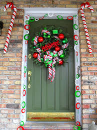 Large Candy Cane Decorations 60 Best Christmas Door Decorations for 60 25
