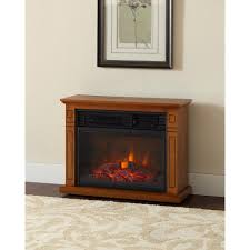 hampton bay cedarstone 29 in 3 element mantel infrared electric fireplace in oak