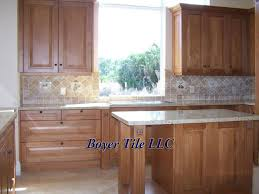 ceramic tiled kitchen backsplash by boyer tile