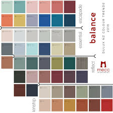 Dulux Colour Chart 2018 Balance Your 2018 Interiors With Inspired Colours Mecc